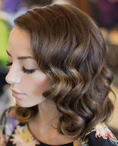 Wedding Hairstyles For Medium Curly Hair: Wedding+hairstyles+for+medium+length+hair+-+wavy+wedding