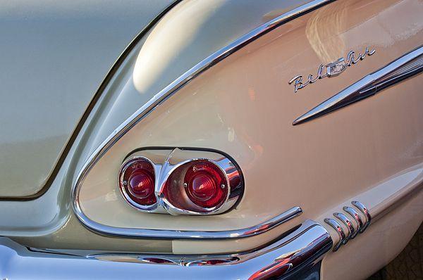 1958 Chevrolet Belair Taillight Chevrolet Tail Light Car Detailing