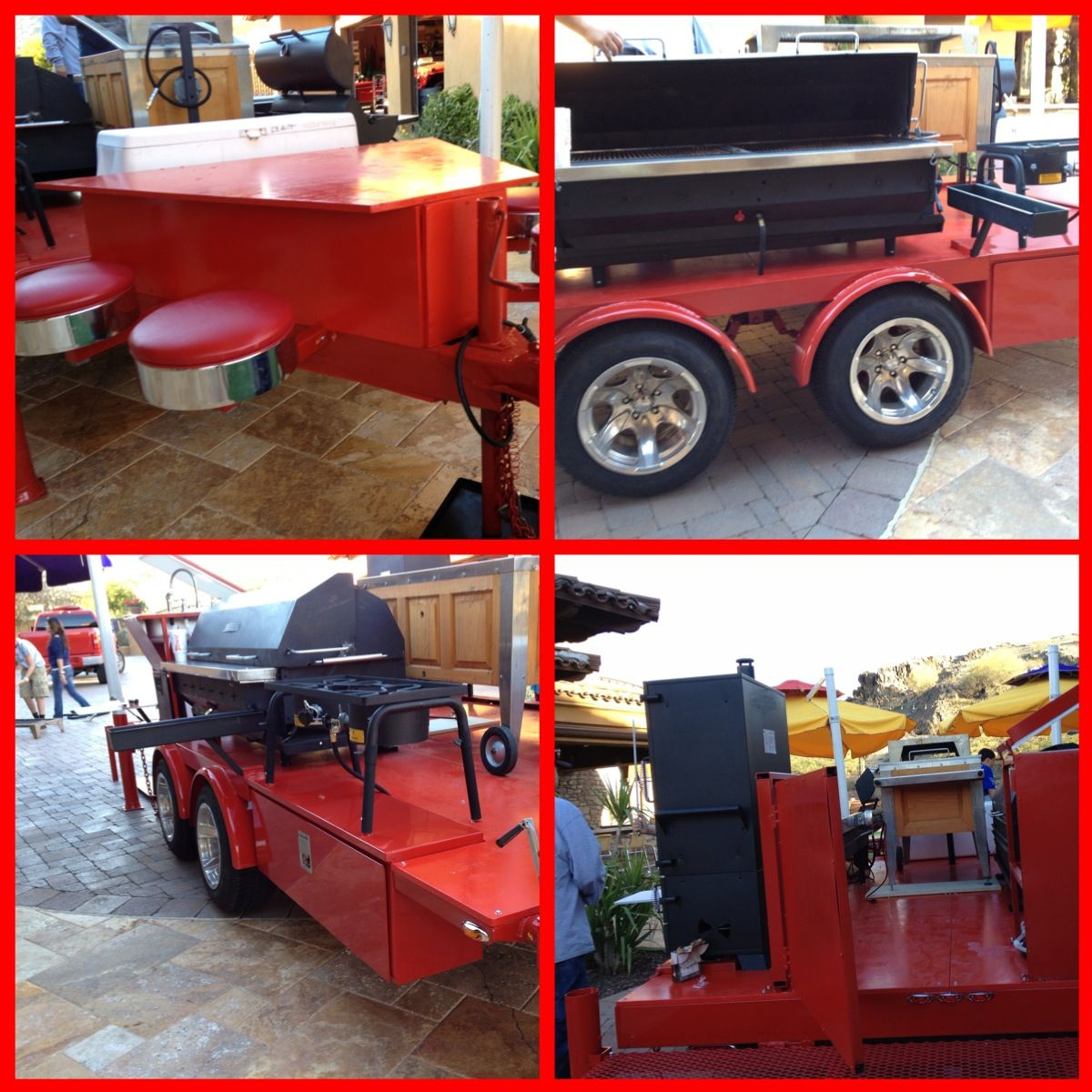 bbq trailer crafty things pinterest grills food truck and