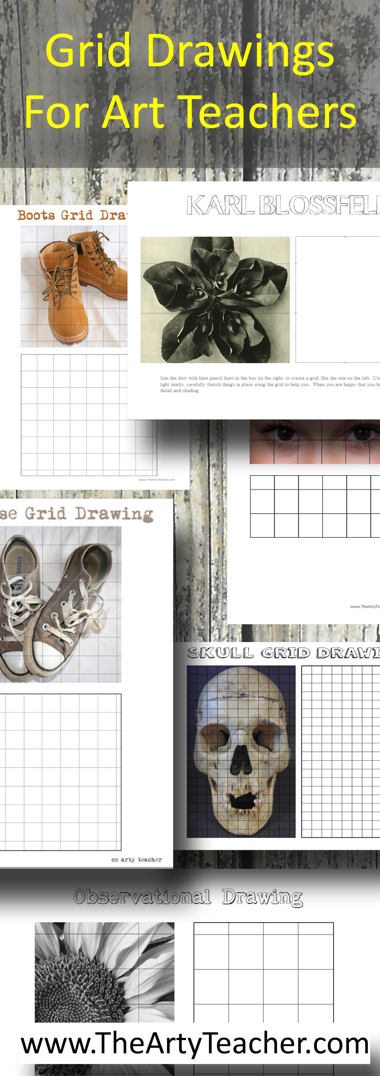 Grid Drawings For Art Teachers Art Resources For Art