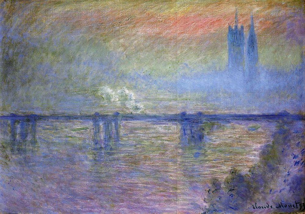 Charing Cross Bridge 1899 by Claude Monet
