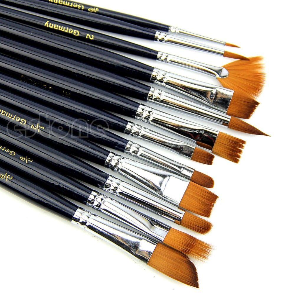 12pcs/set Acrylic Art Craft Artist Oil Watercolor Painting