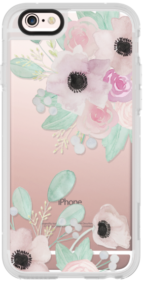 Casetify iPhone 6s Plus New Standard Case - Anemones + Roses by quinn luu #Casetify