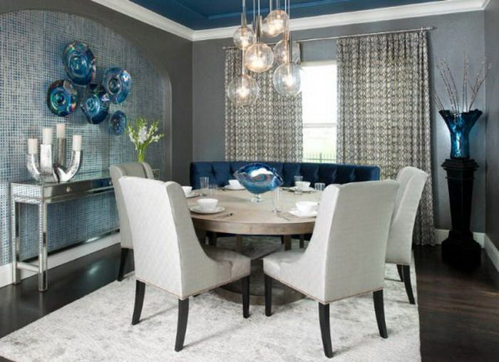 Roundtableinsmallgreydiningroom 700×508 Pixels  How To Extraordinary Formal Dining Room Table Decorating Ideas Decorating Inspiration