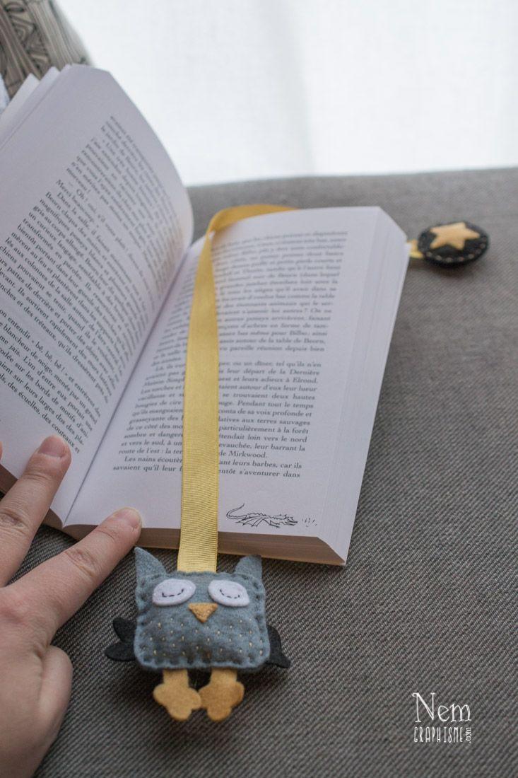 diy marque page hibou diy owl bookmark owls. Black Bedroom Furniture Sets. Home Design Ideas