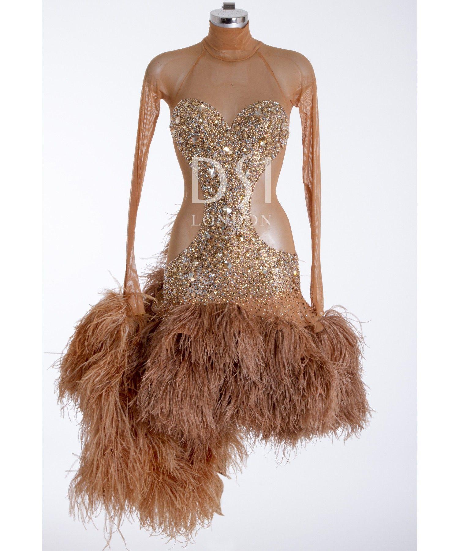 388393 Tan Latin Dress | Latin dresses for sale | Dance ...