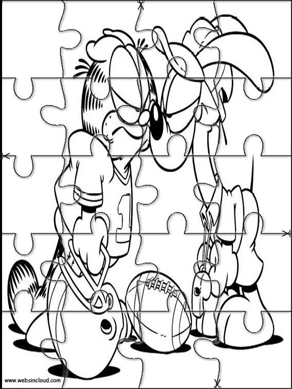 Printable jigsaw puzzles to cut out for kids Garfield 34 Coloring ...