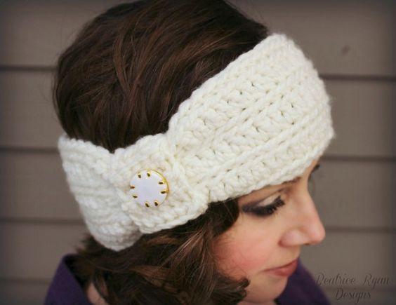 Wintertide Headband… Free Crochet Pattern!!! | Pinterest | Banda y ...