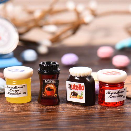Low Price New Mini Fruit Jam Set For 1:12 Miniature Dollhouse Kitchen Decor