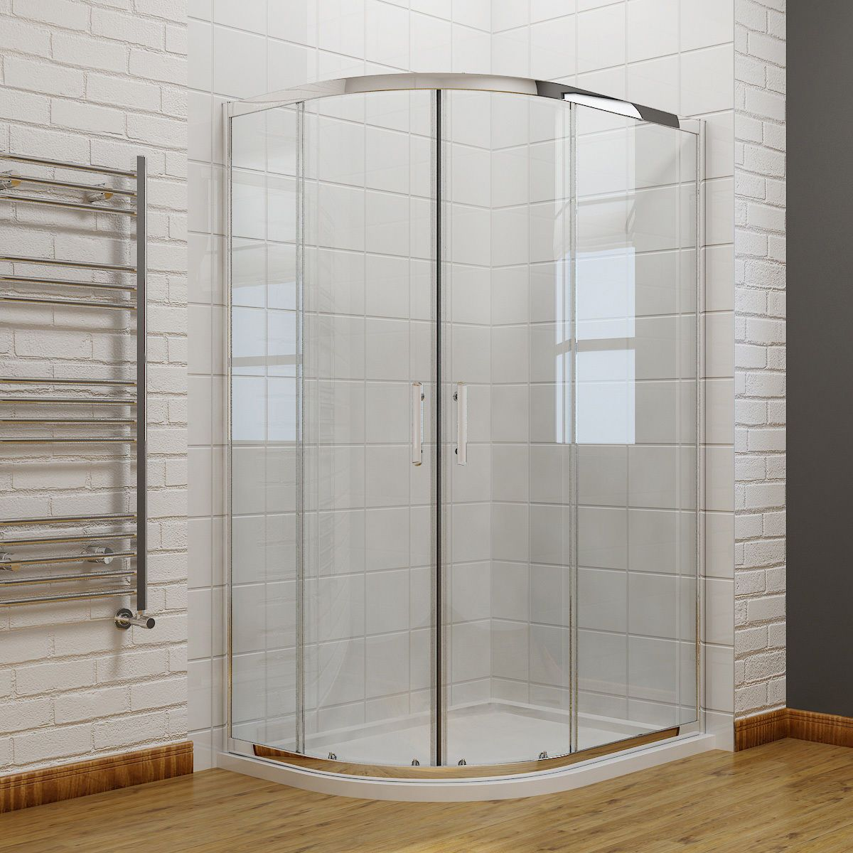 Offset Walk In Quadrant Shower Enclosure Corner Cubicle 6mm Glass ...