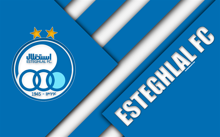 Download Wallpapers Esteghlal FC 4k Iranian Football Club Logo
