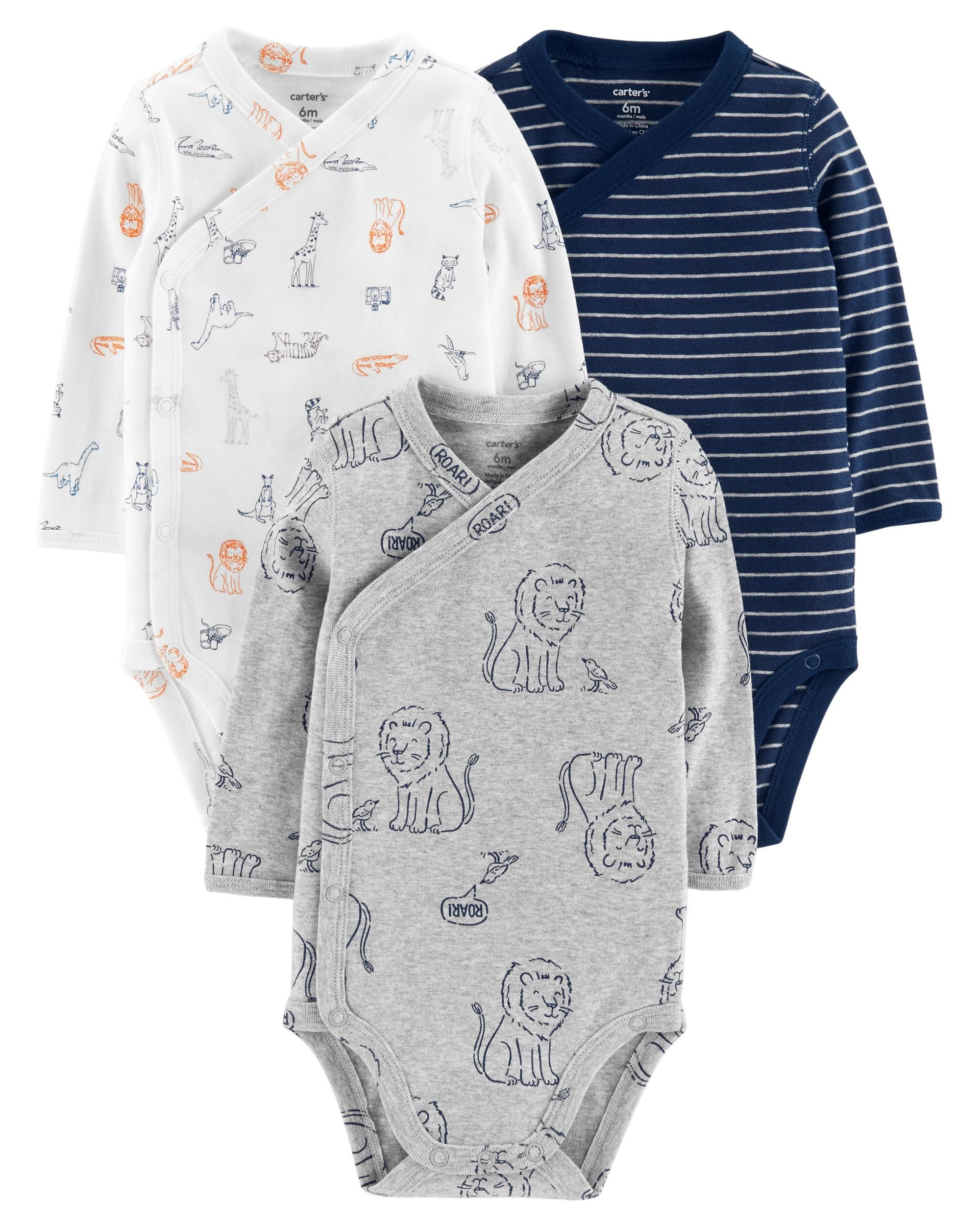 7-Pack Side-Snap Bodysuits  Boy outfits, Baby boy outfits, Baby