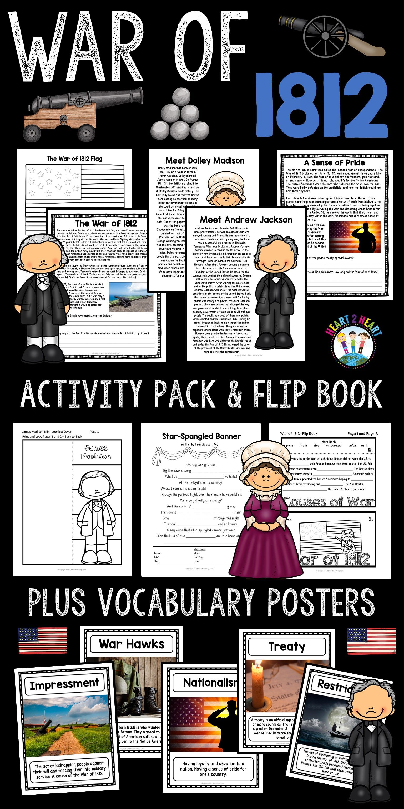 War Of Activity Pack With James Madison Dolley