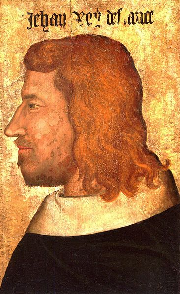 John II (16 April 1319 – 8 April 1364), called John the Good, was a monarch of the House of Valois who ruled as King of France from 1350 until his death. On 28 July 1332, at the age of 13, John was married to Bonne of Bohemia (d. 1349), daughter of John I (the Blind) of Bohemia.