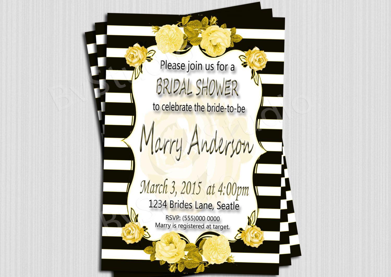 Bridal Shower Invitation, Roses invitation, Wedding Shower ...