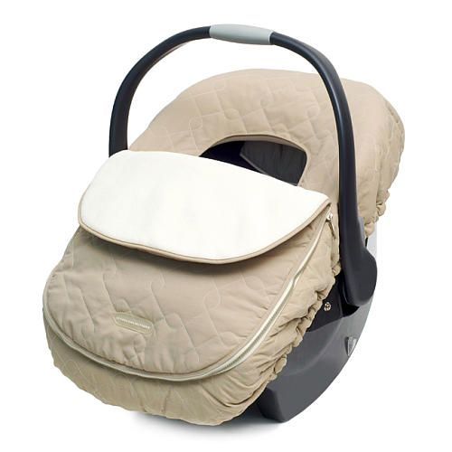 JJ Cole Car Seat Cover - Khaki - JJ Cole Collections - Babies