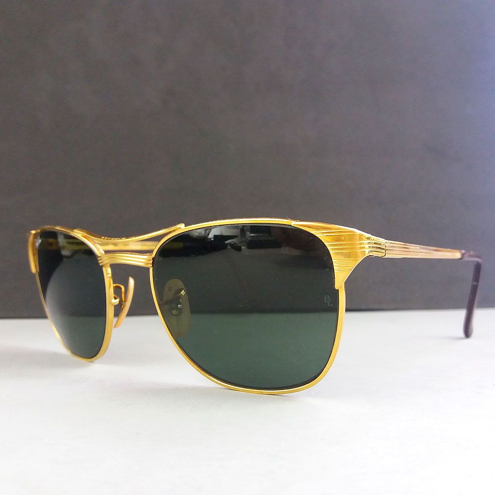 dfbb53e75f Ray Ban Signet Gold Vintage Sonnenbrille Bausch   Lomb Sunglasses – Theo s  Vintage