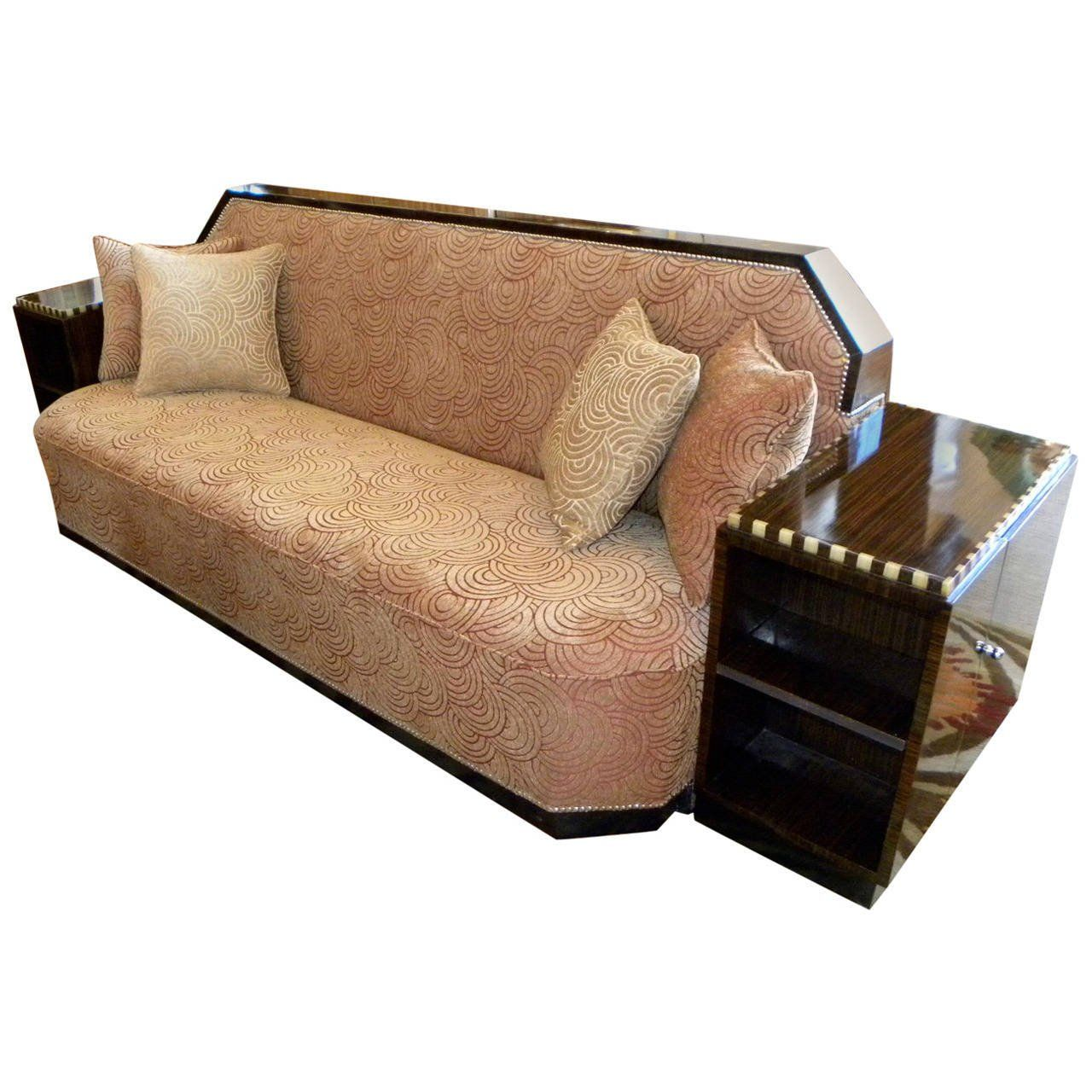 View This Item And Discover Similar Sectional Sofas For Sale At   Talk  About Comfort! This Glamorous Art Deco Cozy Corner Takes At Home Relaxation  To A New ...