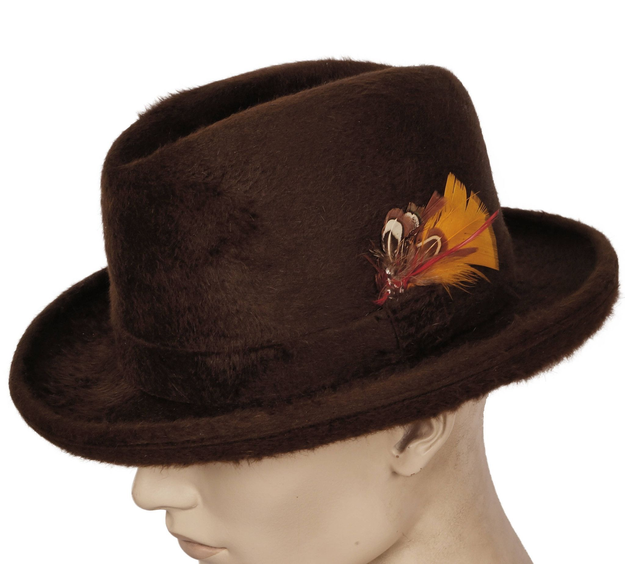 69e06e3d3d2 Vintage Biltmore Luxuro Fedora Hat Plush Fur Felt Homberg Stetson Size 7 3 8