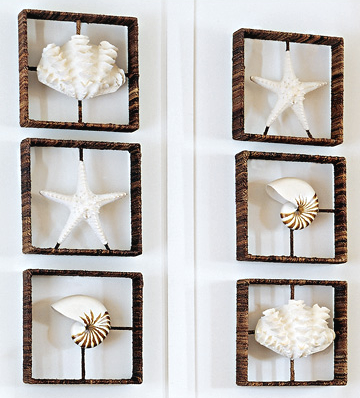 Unique wall decor with cast sea life shadow boxes shop the look unique wall decor with cast sea life shadow boxes ppazfo