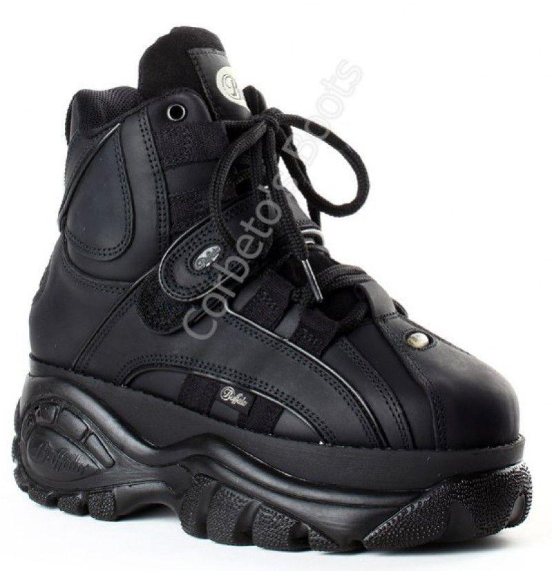 Corbeto's Boots   134814 Texas Oil Negro   Zapatilla Buffalo Classic  unisex con plataforma