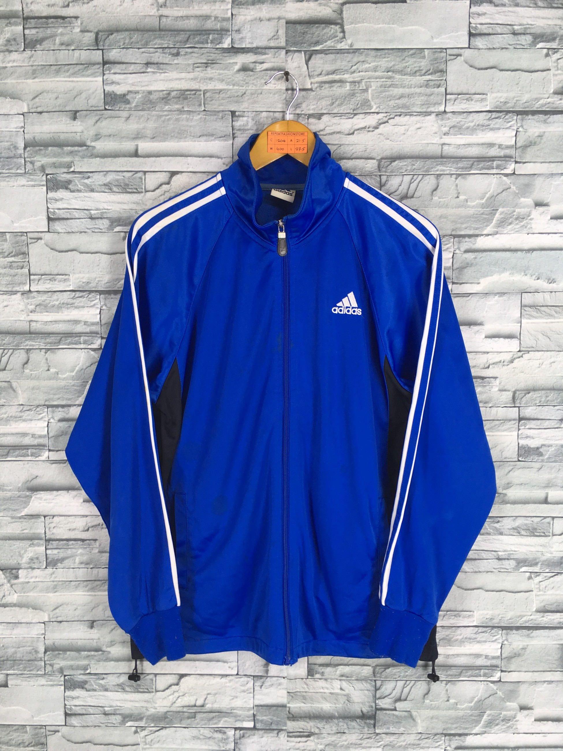 ADIDAS Jacket Windbreaker Medium Vintage 90's Adidas Trefoil