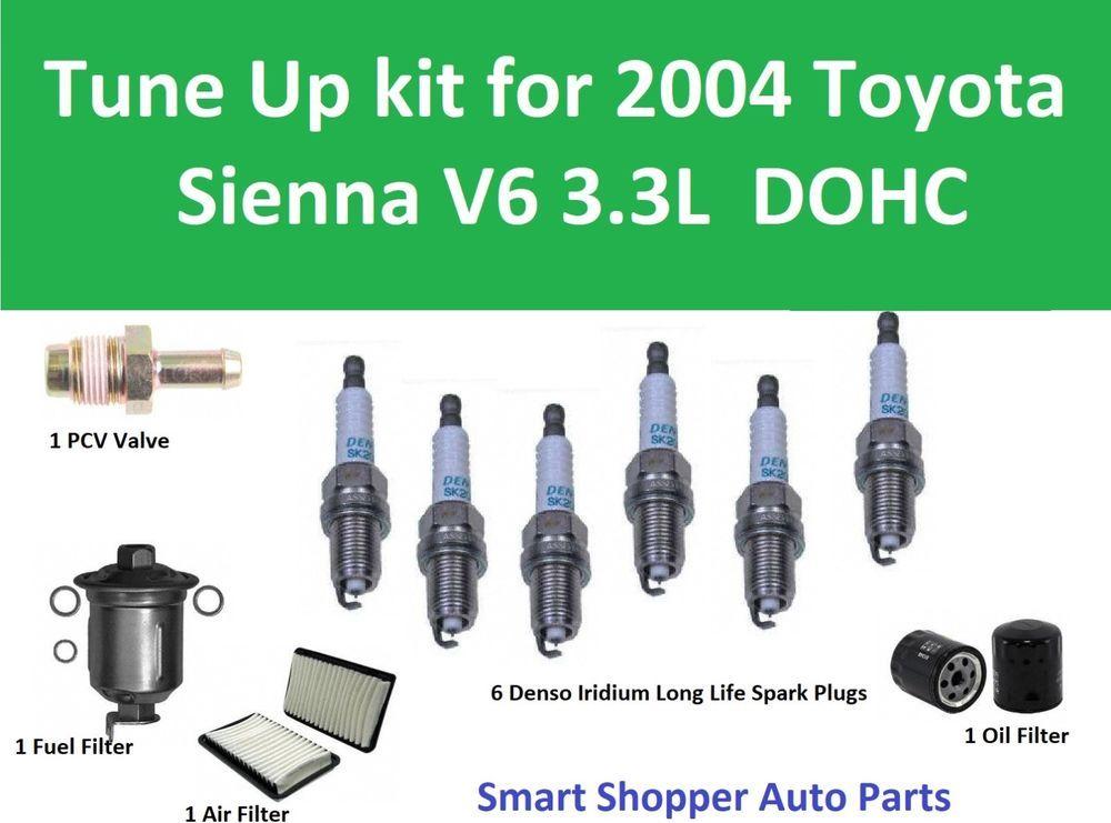 Tune Up Kit For 2004 Toyota Sienna V6 3 3l Air Filter Oi Filter Fuel Filter P Ebay Toyota Sienna Toyota Mini Van