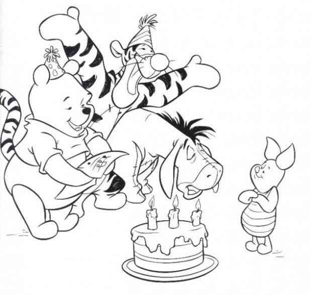 Winnie Pooh 16 Ausmalbilder | Ziyaret Edilecek Yerler | Pinterest