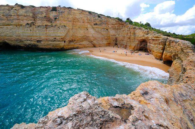 Praia Do Carvalho Lagoa Faro Portugal Paises Del Mundo Portugal Paises
