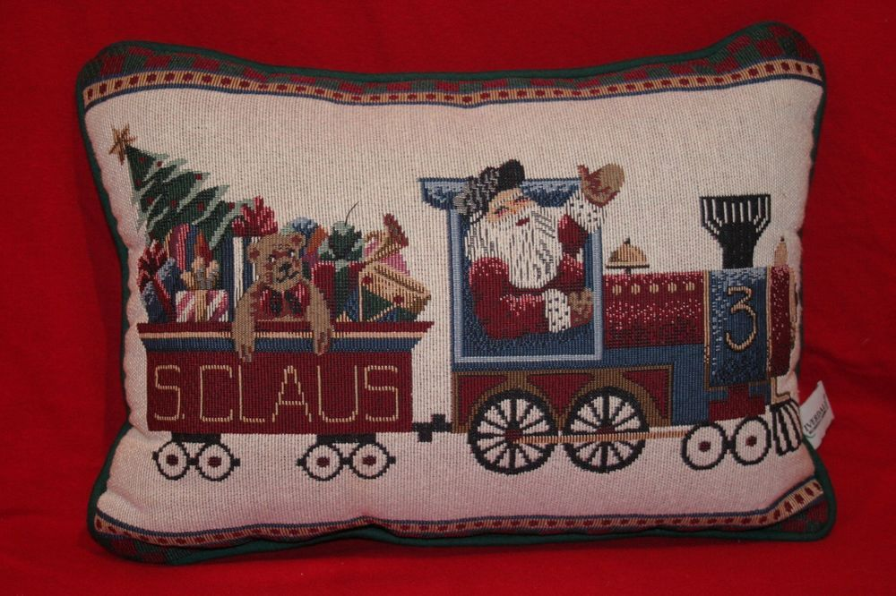 Santa Claus Christmas Toy Train Riverdale Tapestry Decorative Throw