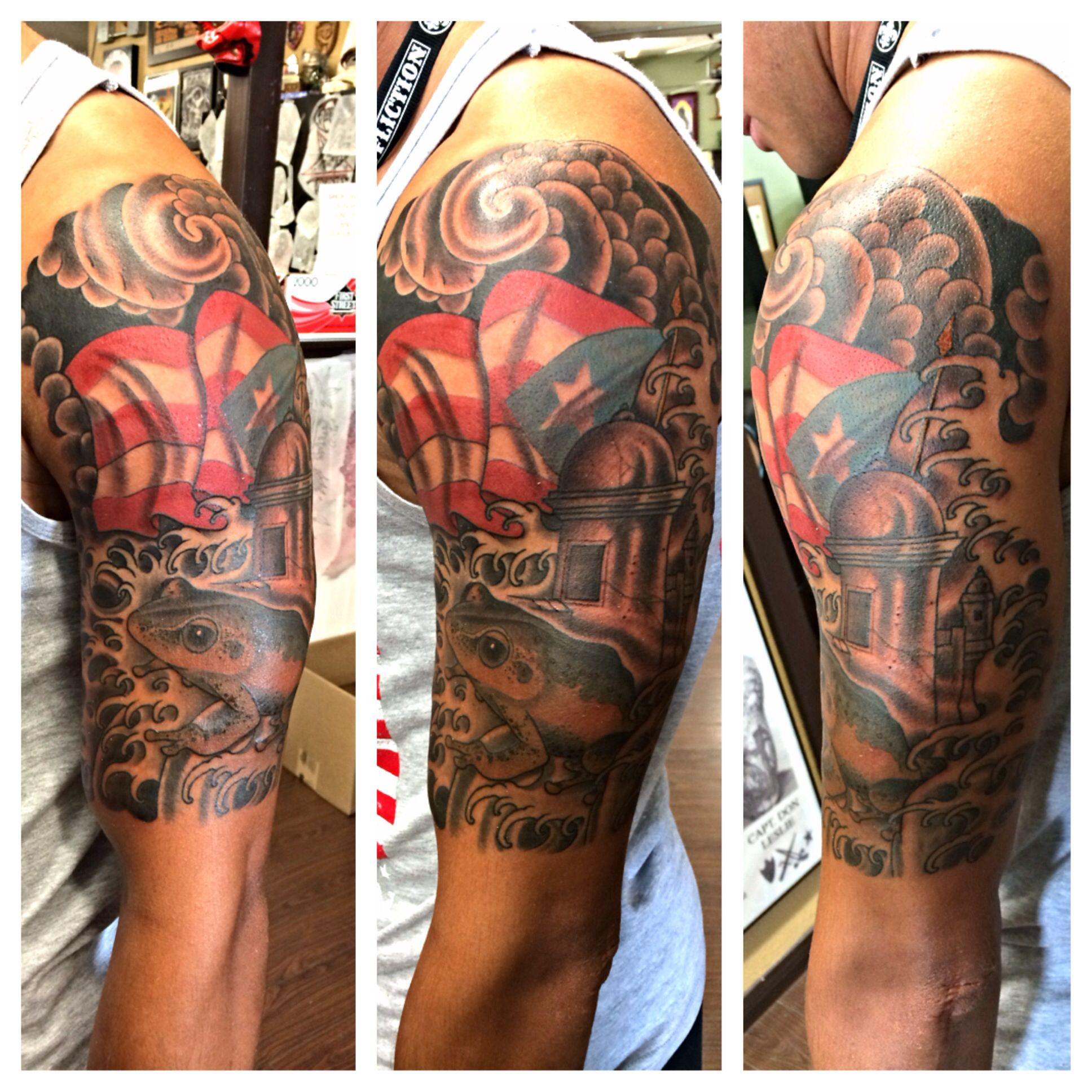 Taino Tattoo For Woman: Puerto Rico Half Sleeve ️