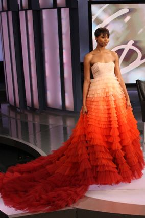 Christian Siriano S Ombre Gown Gorgeous Gowns Strapless Dress Formal Christian Siriano
