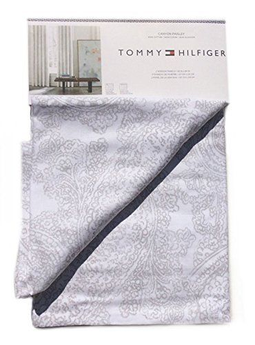 Tommy Hilfiger Canyon Paisley Pair of Curtains 2 window panels, 50 by 84-inch Delicate Vintage Paisley Print Grey White Gray Tommy Hilfiger http://www.amazon.com/dp/B00XCTJQP6/ref=cm_sw_r_pi_dp_nSIuvb1AGQ4H4