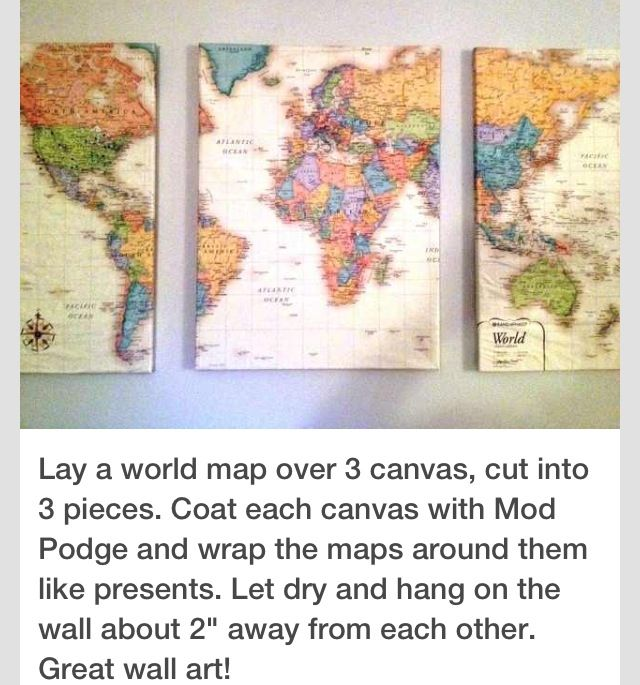 Map canvas diy canvas pinterest canvases diy canvas and map canvas gumiabroncs Gallery