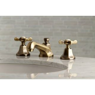 Photo of Essex Widespread Bathroom Faucet (Brushed Nickel), Kingston Brass