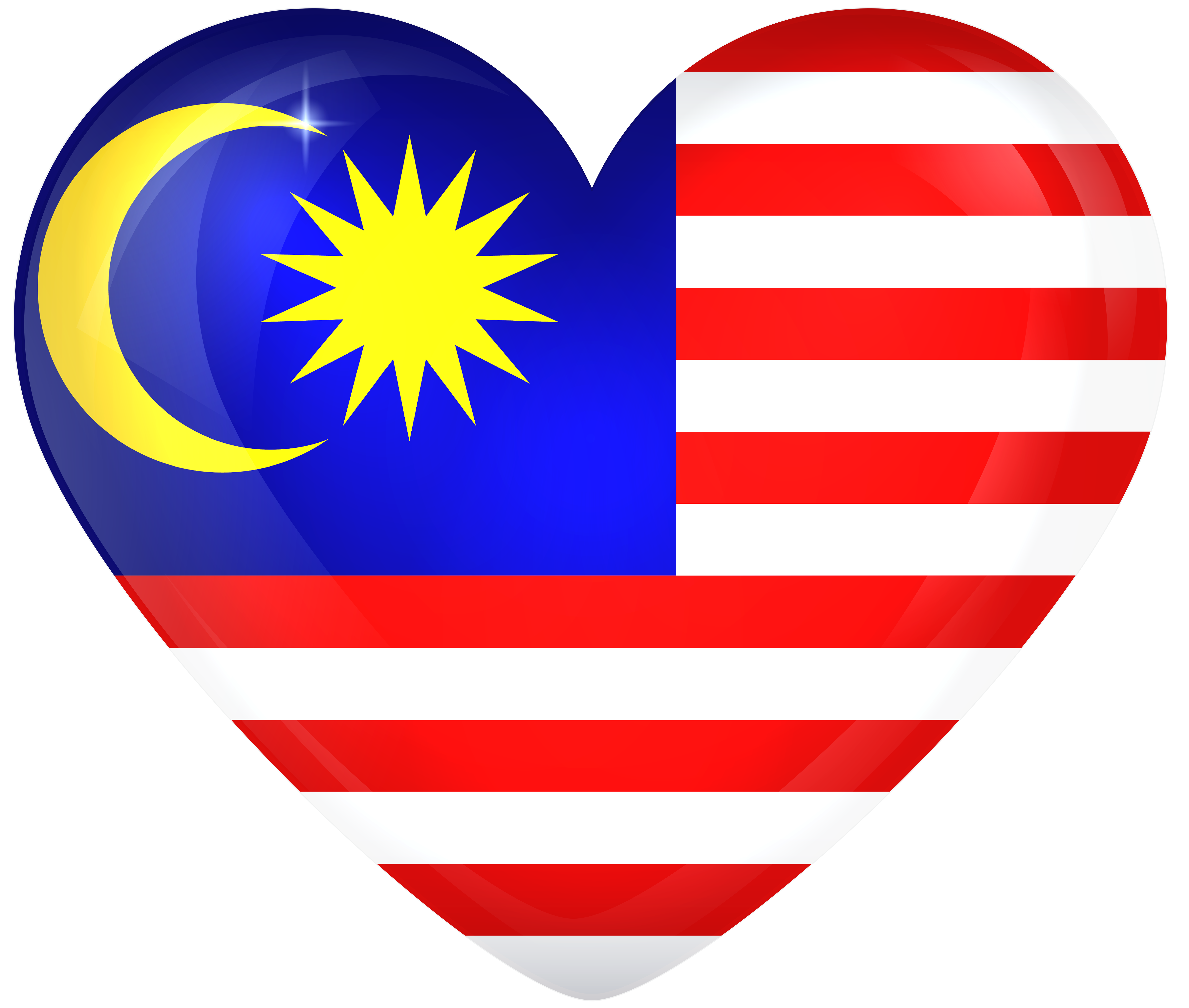 Malaysia Large Heart Flag Gallery Yopriceville High