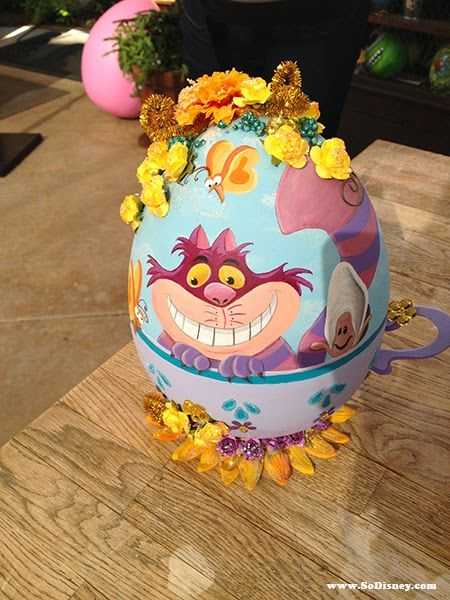 Cheshire Cat Easter Egg At Disneylands Springtime Roundup