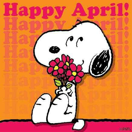 snoopy happy april :) | Snoopy, Snoopy love, Snoopy and woodstock