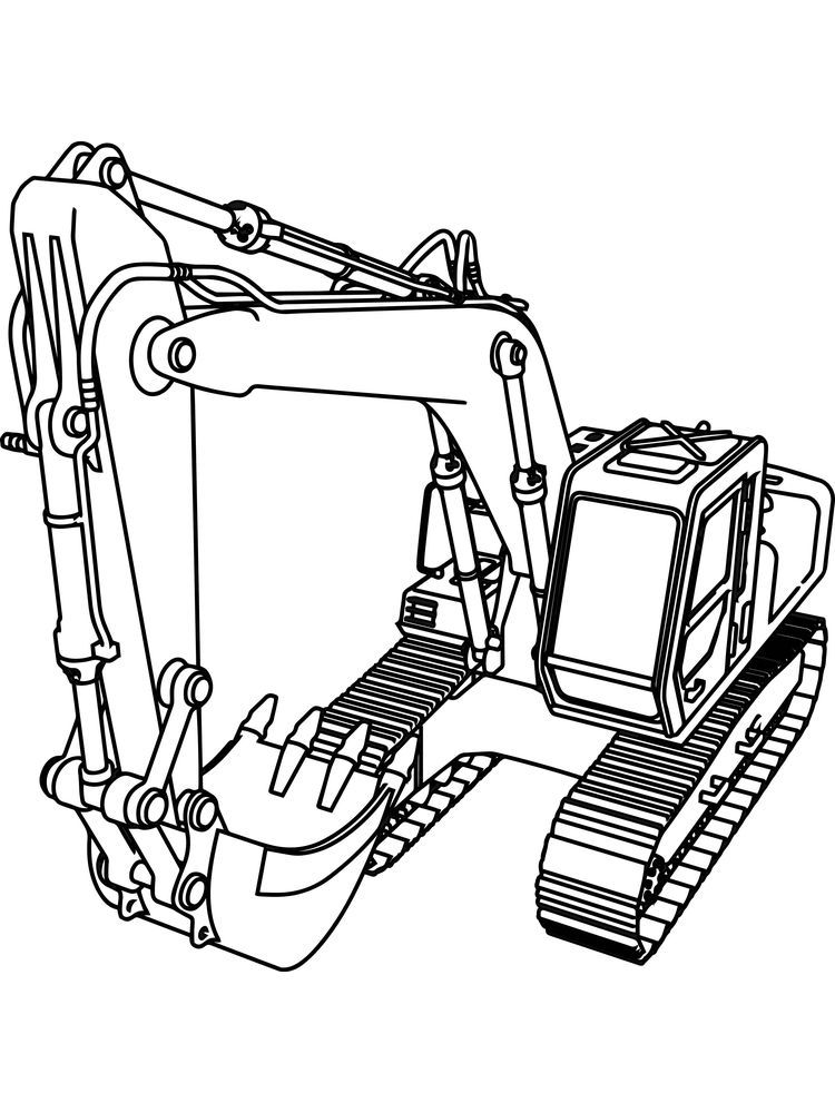 Excavator Coloring Pages Background Excavators Are Heavy Equipment Consisting Of Arms Booms And Coloring Pages Truck Coloring Pages Printable Coloring Pages