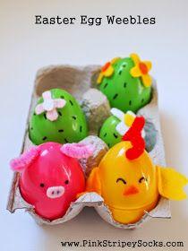Make farm animal and cacti Easter Egg Weebles