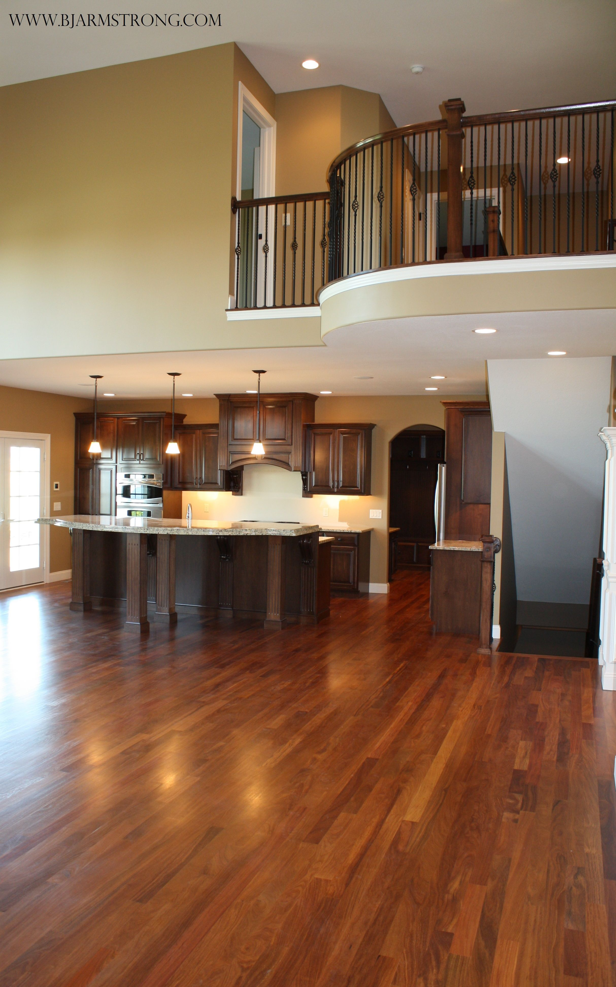 2 Story Great Room That Leads Into Kitchen Home House Traditional Family Rooms