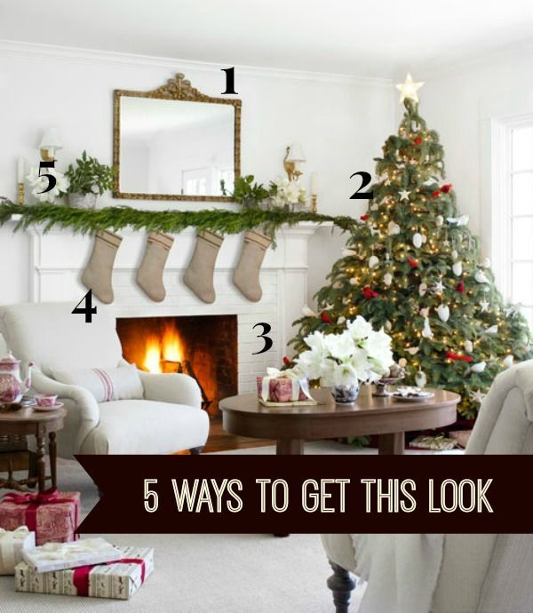 DIY Christmas Decorations | Check out these five DIY tutorials to get the look of this Farmhouse Christmas Parlor that was featured in Country Living Magazine! #diychristmas #diychristmasdecor #christmasdecor