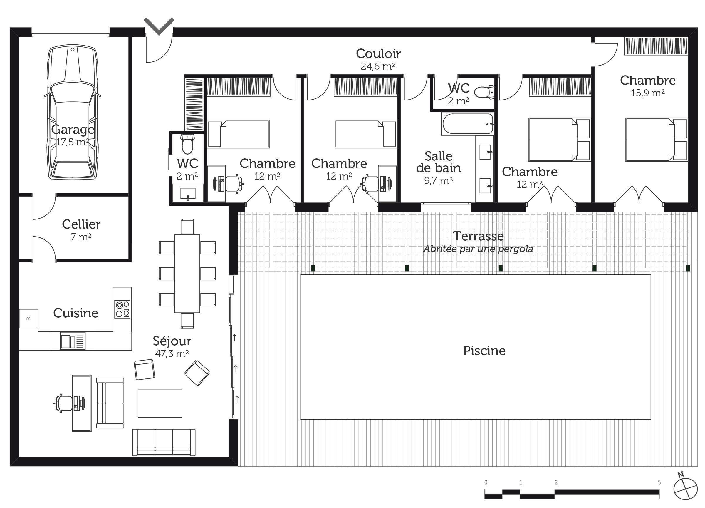Awesome Maison Minecraft Plan Eigenheim Grundriss Haus Grundriss Hofhaus Plane