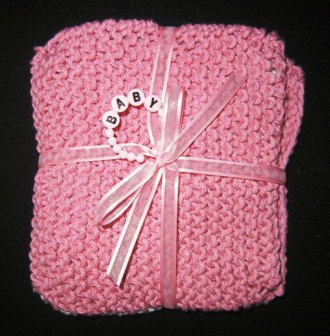 Baby Washcloths Set Of 3 Pinks White