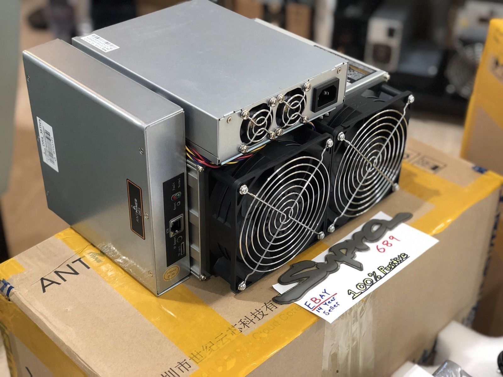 Details about Bitmain Antminer DR5 - 35TH/s DCR Decred ASIC Miner