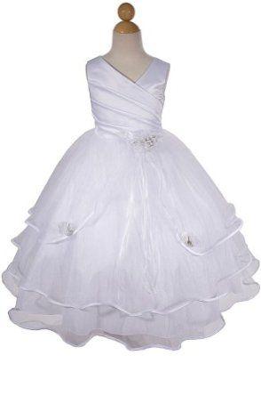 7e5bc9f8c AMJ Dresses Inc Girls White Flower Girl Communion Dress Sizes 2 to 16