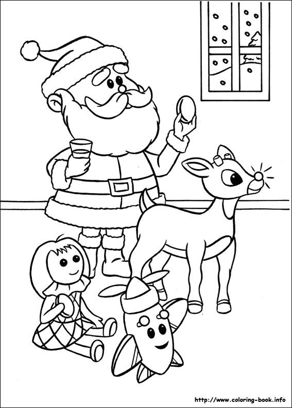 Rudolph The Red Nosed Reindeer Coloring Picture Rudolph Coloring Pages Coloring Pages Coloring Books