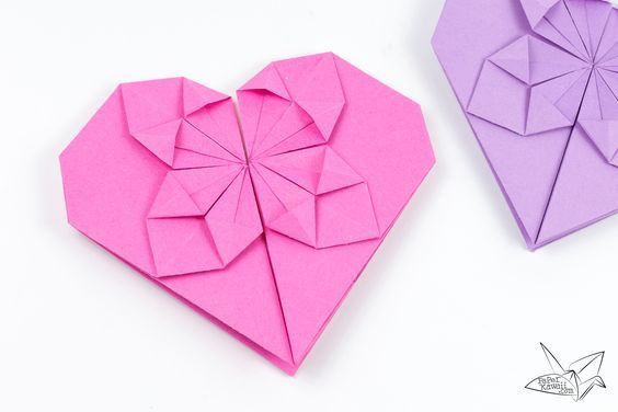 Money Origami Heart Tutorial For Valentines Day Origami Hearts