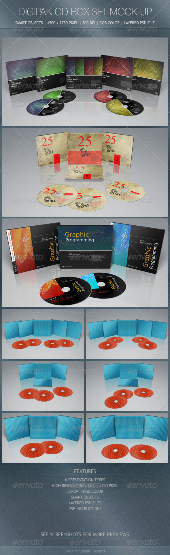 digipak cd box set mock up box sets and mockup. Black Bedroom Furniture Sets. Home Design Ideas