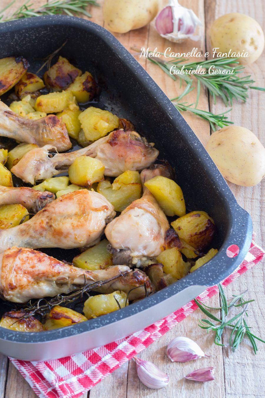 Rosmarino Secco Alla Base ricetta fusi di pollo al forno con patate al rosmarino